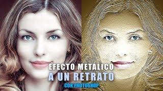 Cómo crear un efecto metálico a un retrato en Photoshop En este tutorial vamos a ver cómo conseguir un efecto metálico en nuestros retratos muy fácilmente.♦︎ TUTORIALES RELACIONADOS- 4 Métodos para crear viñetas en tus fotografías con Photoshop: https://youtu.be/wBzJlkqi3u8— Crear efecto oro y efecto plata en Photoshop: https://youtu.be/HQ6b7y4rCYg♦︎ IMAGEN USADA:- De pexels.com: https://goo.gl/QgtX1B♦︎ Recursos gratuitos en: https://goo.gl/gxH0qs♦︎ Técnicas usadas:- Filtro Relieve.- Filtro Efectos de Iluminación.- Crear Viñeta.- Mejorar Iluminación.Lo primero que haré será buscar el bajorrelieve que simule un grabado en metal de nuestro retrato. Para esto lo que haré será utilizar el filtro Relieve, el cual nos permite conseguir ese bajorrelieve muy fácilmente.A continuación crearé los efectos de iluminación necesarios para que adquiera unos brillos metálicos que le den más realismo, utilizando el filtro Efectos de Iluminación.Por último haré unos ajustes de color e iluminación finales con los que conseguir el mejor resultado.♦︎ Más tutoriales escritos en: https://www.tripiyon.com♦︎ Instructor Certificado en ConectaTutoriales (Photoshop) - Grupo oficial de Adobe en España: http://adobe.conectatutoriales.com