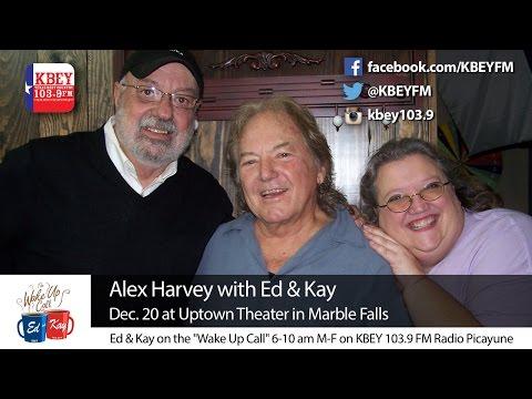 Alex Harvey visits KBEY-FM before Dec. 20 show