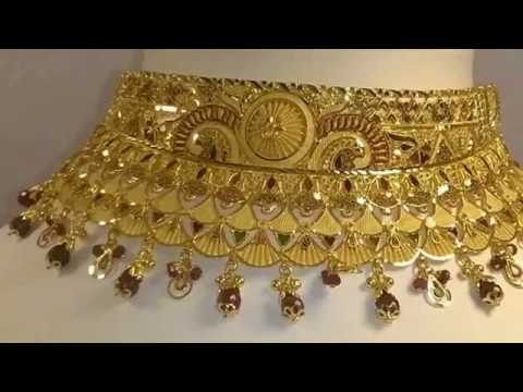 Bridal Gold Jewellery |Short Necklaces | Choker | Designs Collection