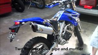 9. Yamaha WR450F Two Brothers M2R Exhaust System