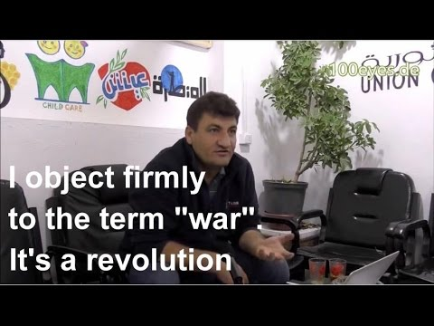 Interview with Raed Fares, Union of Revolutionary Bureaus, Kafranbel, Syria