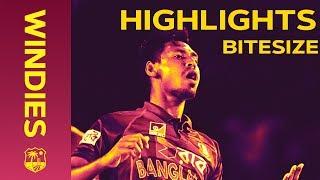 Windies v Bangladesh 3rd IT20 2018 | Bitesize Highlights