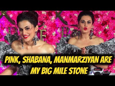 PINK, SHABANA, MANMARZIYAN are my Big Mile Stone Says Taapsee Pannu