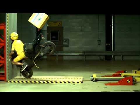 This is why full face helmet is essential -  crash test