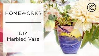 Kreasikan Vas Bunga Polos Bermotif Marble Yang Cantik