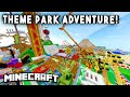 THEME PARK ADVENTURE [Ep1] (Rollercoasters, Mazes, Hunted Houses & more!)