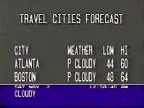 Weather Channel Blooper 1991