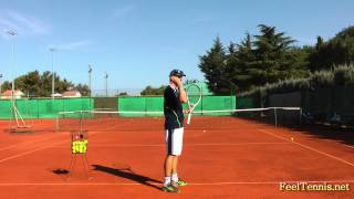 Improve Your Tennis Slice Serve With This Feel Drill