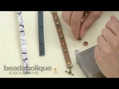how to fasten leather cord