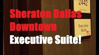 Stayed at the Sheraton Dallas, and they bumped me into an executive suite. Here's what that looks like.http://www.yelp.com/biz/sheraton-dallas-hotel-dallas-2?hrid=6rUnYrZ7yD4nagO_dShvYg