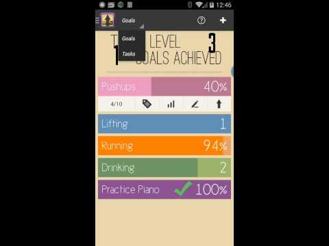 Video of Raise The Bar - Goal Tracker
