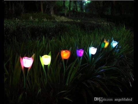 , title : 'Romantic!Solar LED rose light Outdoor  Landscape Path Colorful Christmas Decorations'