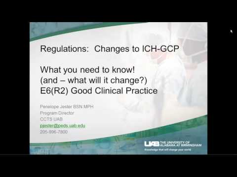 Research Seminar Series: Regulations - Changes to ICH-GCP