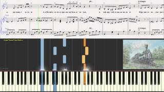 В вагоне поезда - Шульженко К.(Романс,Ноты для фортепиано) (piano cover)