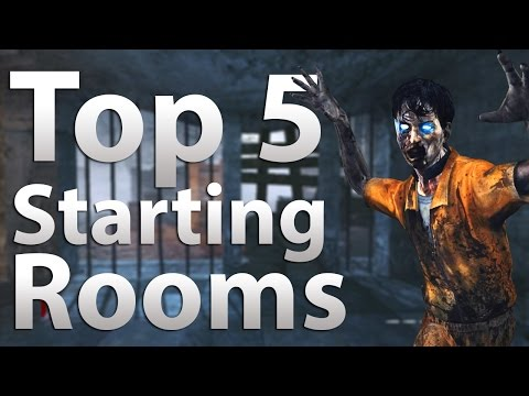Blackops - 'TOP 5' Starting Rooms in 'Call of Duty Zombies' -