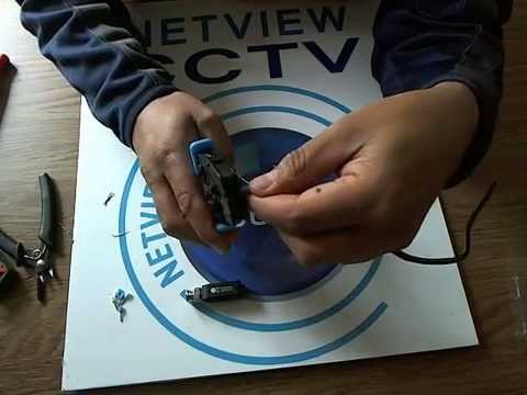 Demo of NetviewCCTV HD Passive Video Balun (without Tails)
