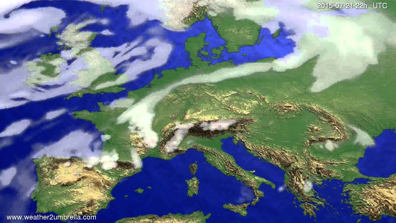 Cloud forecast Europe 2015-07-18
