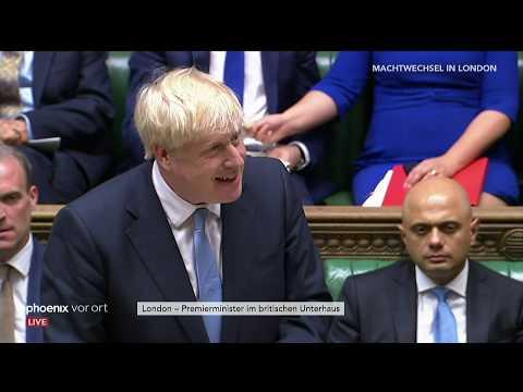 Boris Johnson spricht als neuer Premierminister von G ...