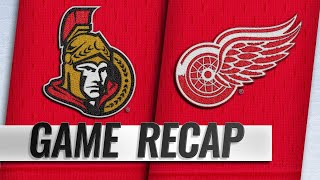 Tierney scores twice in 4-2 win against Red Wings by NHL