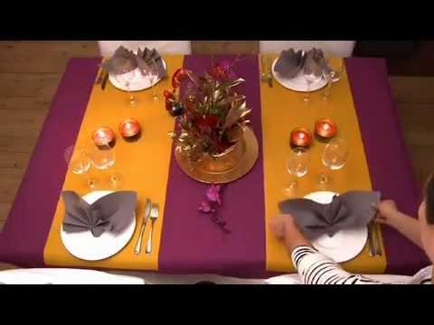 Один из вариантов красивой сервировки стола!