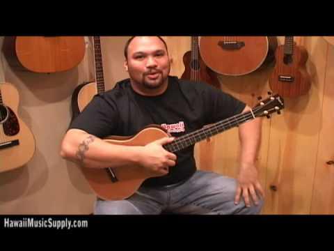 Concert Ukulele - http://www.theukulelesite.com/ - Pono Ukuleles, Types of Ukuleles - Soprano, Tenor Concert & Baritone. Aaron from http://www.hawaiimusicsupply.com explains t...