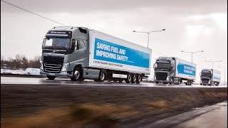 We believe that platooning offers major advantages, mainly for our customers, but also for society in the form of fuel savings, reduced emissions and enhanced transportation efficiency.Read more: http://www.volvotrucks.com/en-en/about-us/automation.html