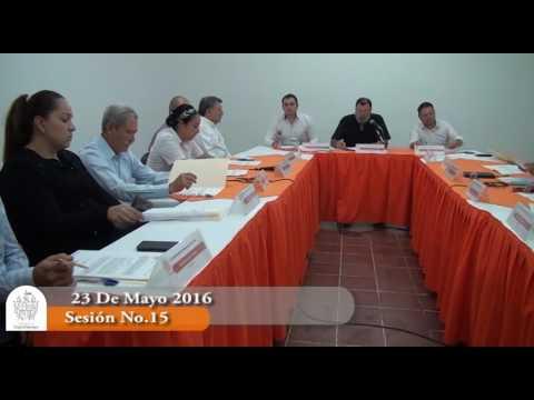 Sesión Extraordinaria No. 15 de Ayuntamiento 23 de mayo de 2016