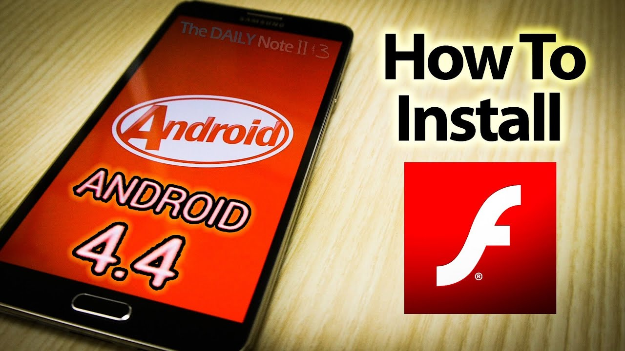 Descargar Flash Player on Android 4.4 KitKat (How to install and download apk on any device) para Celular  #Android