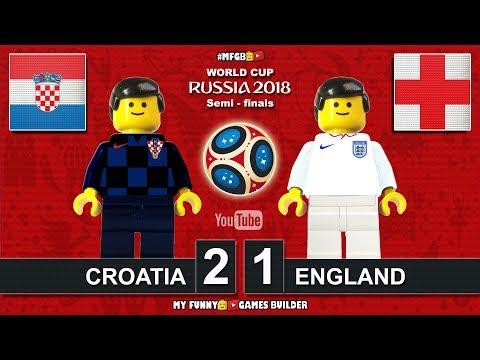 World Cup 2018 Semi-finals • Croatia vs England 2-1 • 11/07/2018 All Goals Highlights Lego Football