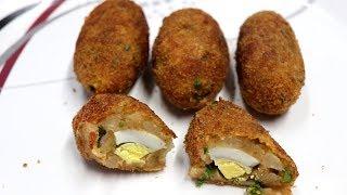 உருளைக்கிழங்கு முட்டை ஸ்டஃப்டு ஃப்ரை | How To Make Potato Stuffed Egg Fry | Tamil Food Masala