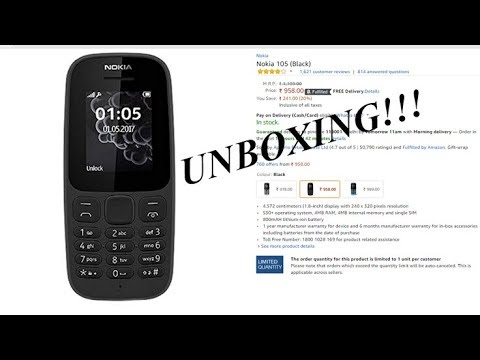 UNBOXING | Nokia 105 | Budget Phone |Hindi| 2018