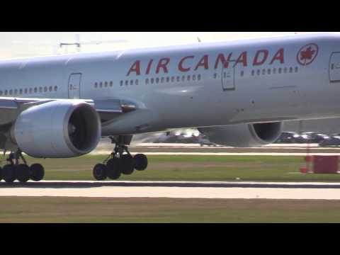 B777 - Japan Airlines and China Southern B787 dreamliner landing with Air Canda B777 at Vancouver International Airport. Filmed March 20, 2014.