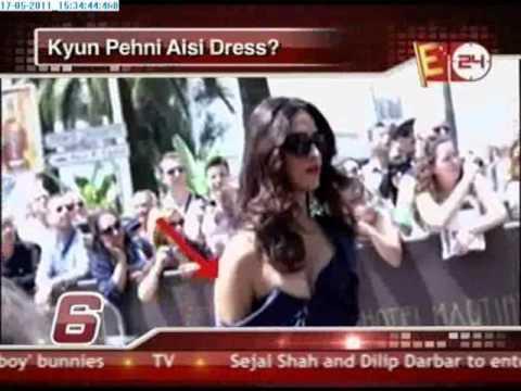 Sonam Kapoor wardrobe malfunction at Cannes