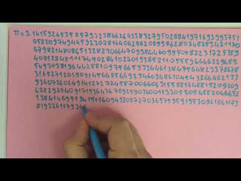 20 minutes writing Digits of Pi