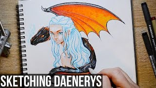 Mother of Dragons! Keeping up with Game of Thrones? Sketching one of my favourite characters, Daenerys Targaryn! I got some...