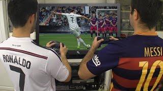 Video Cristiano Ronaldo vs. Messi - Play FIFA 17 | In Real Life! MP3, 3GP, MP4, WEBM, AVI, FLV Agustus 2018