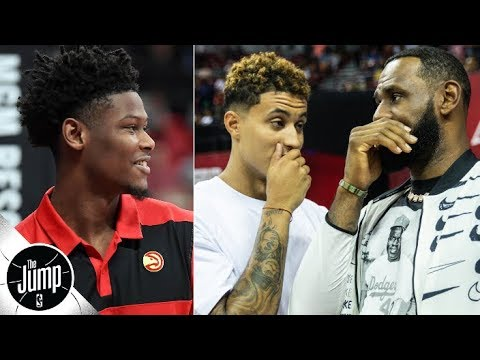 Video: Cam Reddish signs with Nike, Kyle Kuzma under pressure to be part of Lakers' 'Big 3'? | The Jump