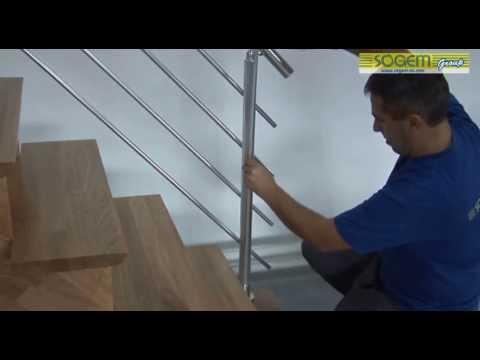comment poser escalier droit