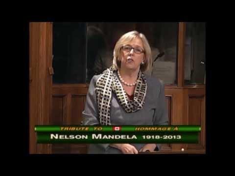 Elizabeth May: Tribute to Nelson Mandela 1918-2013