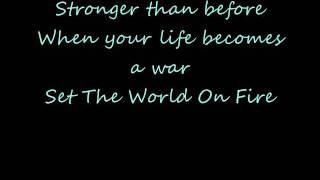 Black Veil Brides - Set The World On Fire (Lyrics On Screen)