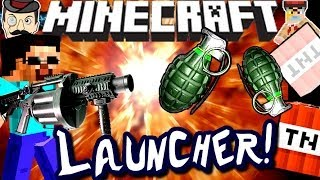 Minecraft NEW LAUNCHER? Fires Grenades!!