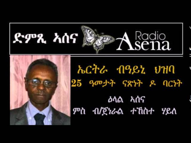 Voice of Assenna: Eritrea 25 Years on - Intv B/General Tekeste Haile