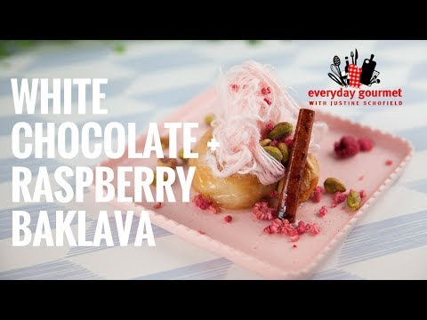 White Chocolate & Raspberry Baklava | Everyday Gourmet S7 E58
