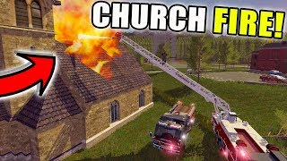 Nonton Fire Rescue   Church Fire   Ladder Firetruck   Farming Simulator 2017 Film Subtitle Indonesia Streaming Movie Download