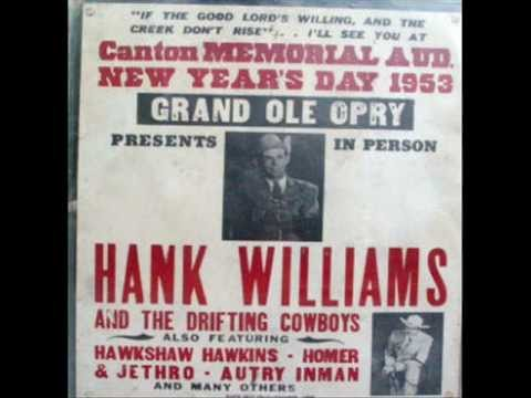 The Night Hank Williams Came to Town (Song) by Waylon Jennings and Johnny Cash