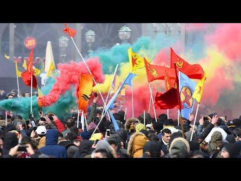 Hannover: Tausende protestieren gegen die Türkei