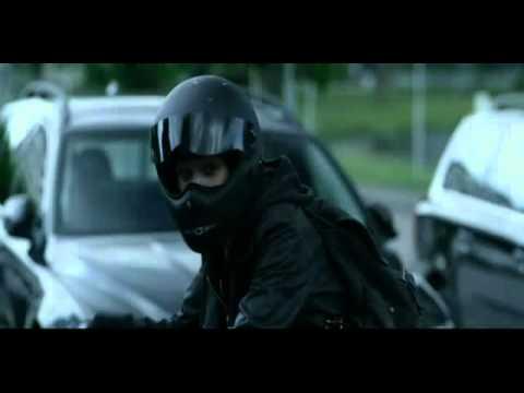 Rooney Mara in motorcycle gear