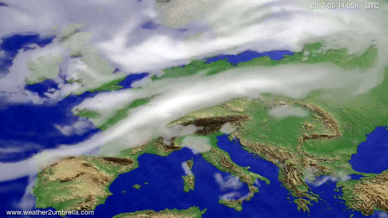 Cloud forecast Europe 2017-09-11
