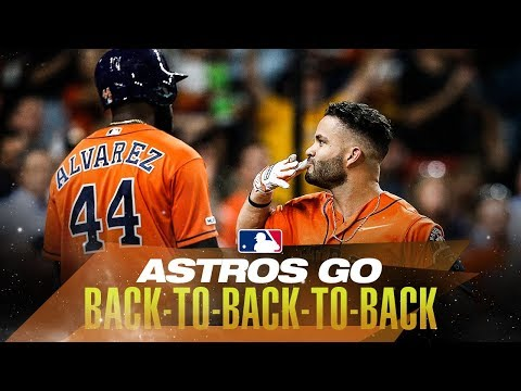 Video: Astros Launch back-to-back-to-back Home Runs
