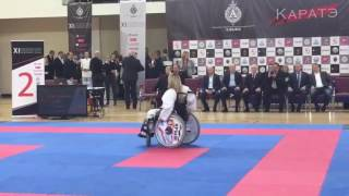 Показательные выступления на XI-турнире  по каратэ на кубок «АЛЬФА»Шеверёва Анна (Ката-Сейчин)